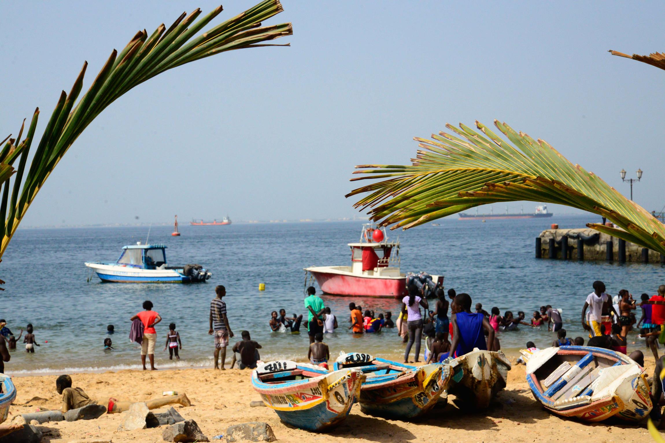 Sénégal, plage sur l'île de Gorée