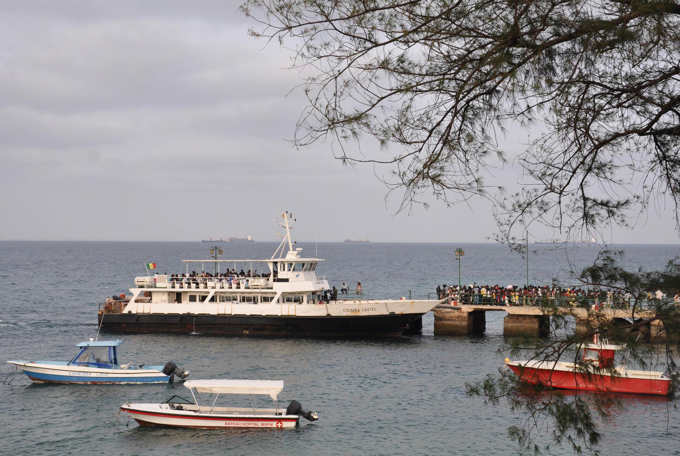 Sénégal, île de Gorée bateau