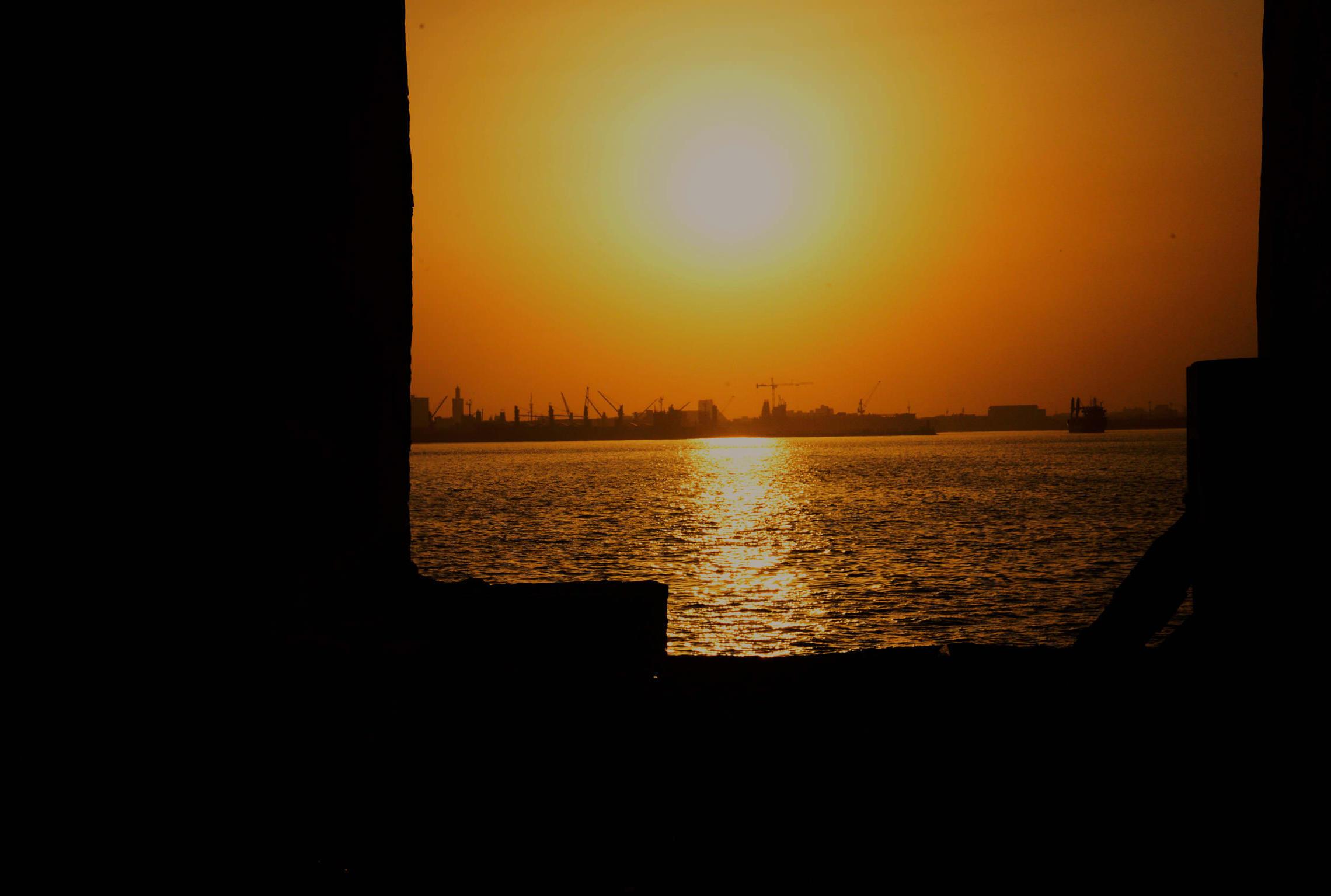 Sénégal, coucher de soleil île de Gorée