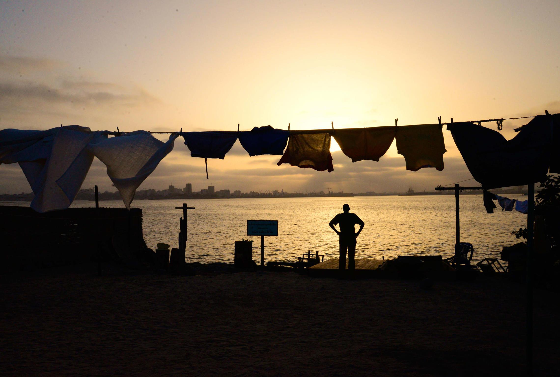 Sénégal, île de Gorée linge