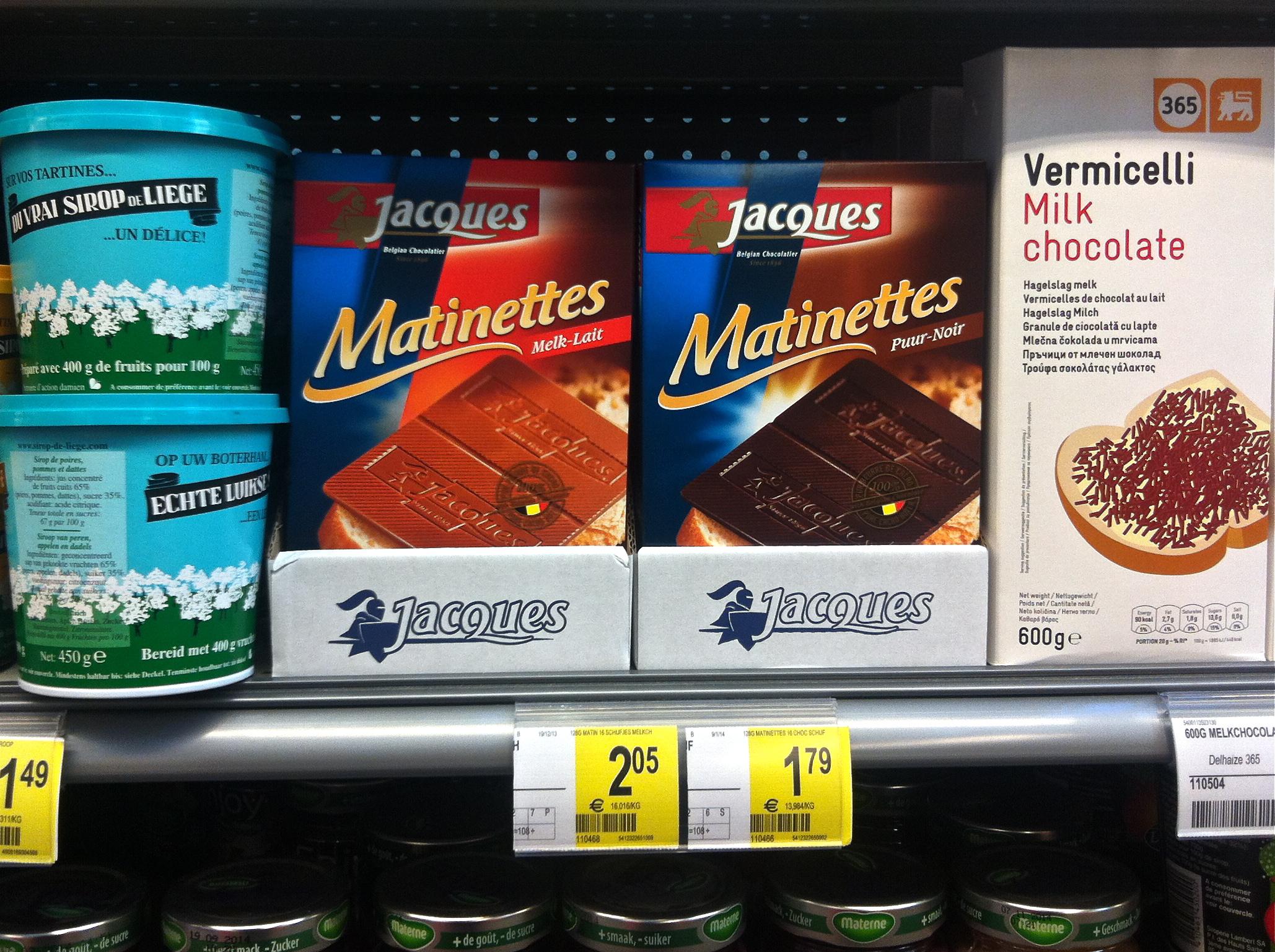 matinettes belgique chocolat