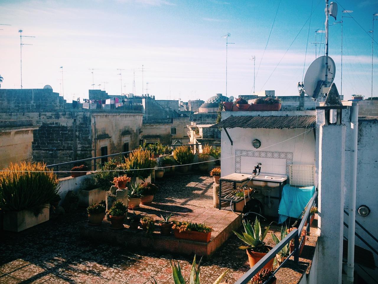 Le rooftop du B&B de Lecce. ©C.C